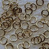 Komponenty - Spoj.krúžok 4x0,7mm-zlatý-20ks - 3982620_