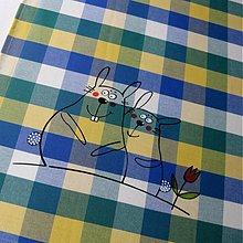 Úžitkový textil - ZAJOŠCI - napron 70x70 cm - 3980609_