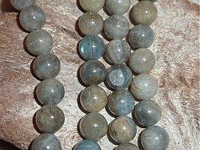Minerály - Labradorit 9,5mm - 3980791_