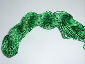 Galantéria - Nylonová šnúrka 1,0mm Zelená 31 - 3981610_