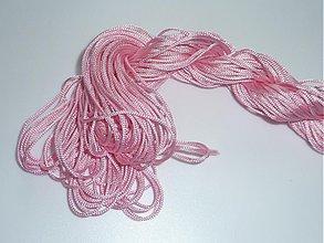 Galantéria - Nylonová šnúrka 1,0mm Ružová 06 - 3982303_