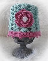 Detské čiapky - Vzdušná...zelená... - 3986594_