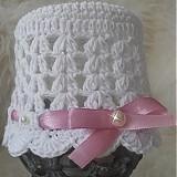 Detské čiapky - Vzdušná biela...nielen na krst... - 3986610_