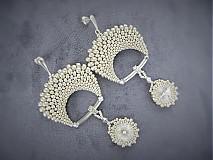Náušnice - Rivoli inšpirácie...silver/crystal - 3984083_