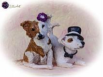 Socha - Figúrky na svadobnú tortu - podľa fotografie - 3986503_