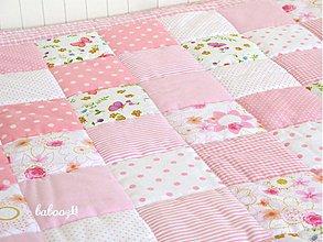 Textil - Patchworková deka 100x100cm - 3983972_