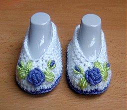 Topánočky - Fialová ružička - 3987580_