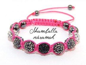 Náramky - shamballa náramok black rainbow - 3986796_