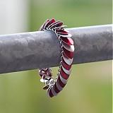 Šupináč Červená zebra - náramok