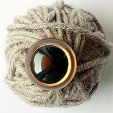 Suroviny - 21mm bezpečnostné zlaté oči pre hračky - 3990114_