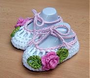 Topánočky - Háčkované balerínky 2 - 3990911_
