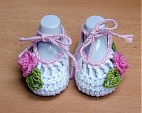 Topánočky - Háčkované balerínky 2 - 3990912_