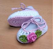 Topánočky - Háčkované balerínky 2 - 3990913_