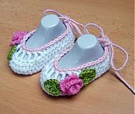 Topánočky - Háčkované balerínky 2 - 3990914_