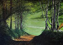 Obrazy - Cesty v brezovom lese na jar - 3994335_