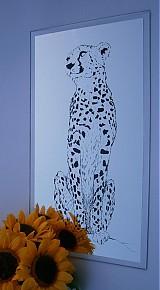 Obrazy - Zrkadlo Gepard - 3993865_