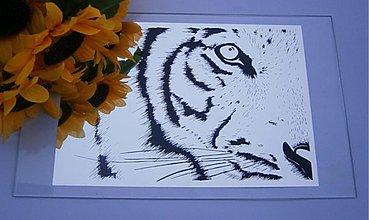 Dekorácie - Zrkadlo Tiger č.1 - 3993828_