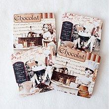 Pomôcky - Obojstranné podšálky - Chocolat - 3991893_