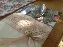 Úžitkový textil - prestieranie na príbor-romantik - 2902612_