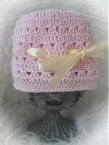 Detské čiapky - Letná čiapočka... so žltou mašličkou - 3996043_
