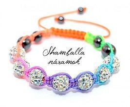 Náramky - shamballa náramok rainbow - 3997198_