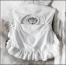 Úžitkový textil - vreckár White Romance Rose - 3995176_
