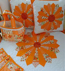 Úžitkový textil - Košík - orange - 3996072_