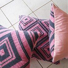 Úžitkový textil - Pletený vankúš kosoštvorcový vzor 1/3 - 3996716_