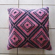 Úžitkový textil - Pletený vankúš kosoštvorcový vzor 3/3 - 3996743_