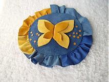 Odznaky/Brošne - Brošňa kožená, let motýľa - 3995231_