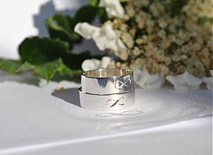 Prstene - Budeme spolu ∞ dlhý čas strieborné ploché - 3998557_