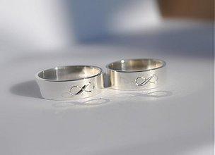 Prstene - Budeme spolu ∞ dlhý čas zlaté ploché - 3998562_