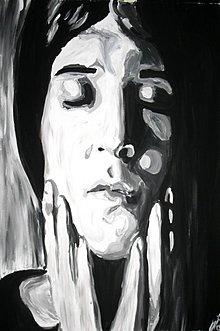Obrazy - Smutná a zasnená - 4001710_