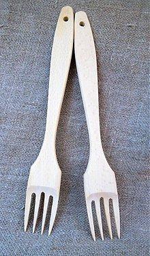 Pomôcky - bukové vidličky - 3999587_