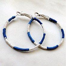 Náušnice - BA-vlnky (nám.modrá) - 4002968_