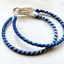 Náušnice - BA-vlnky (modrá) - 4003325_