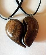 Náhrdelníky - dve polovičky srdce - 4002506_