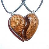 Náhrdelníky - dve polovičky srdce - 4002508_