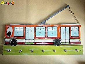Dekorácie - Vešiak - trolejbus - 4005367_