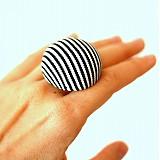 Mushroom button ring - oversize prsteň z buttonu
