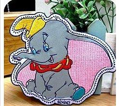 Galantéria - Extra veľká aplikácia / nažehlovačka sloník Dumbo - 4005181_