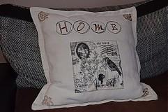 """Úžitkový textil - Vankúšik """"Home"""" - 4009558_"""