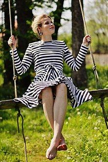 Šaty - 3v1 šaty ALENKA, černobílé - 4007258_