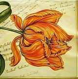 - S078 Servítky - tulipán, nota - 4009466_