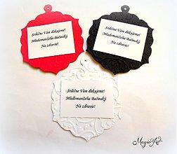 Darčeky pre svadobčanov - Kartičky na víno - RETRO - 4008469_