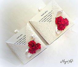"""Papiernictvo - Poďakovanie pre rodičov """"Svadobný bozk"""" - 4008552_"""