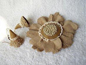 Sady šperkov - Set kožený, bodkatý - 4006896_