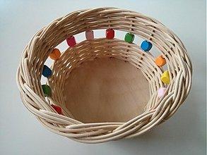 Košíky - Korálkový veselý sponkovník väčší - 4011512_