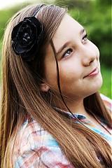 Ozdoby do vlasov - čierny kvet - 4011937_