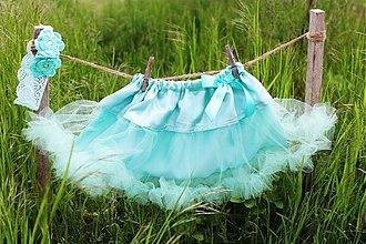 Detské oblečenie - Jemná tyrkysová TUTU - 4011831_